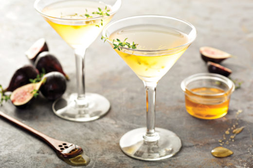 2019 Fall Cocktails - Fig, Honey, and Thyme Martini